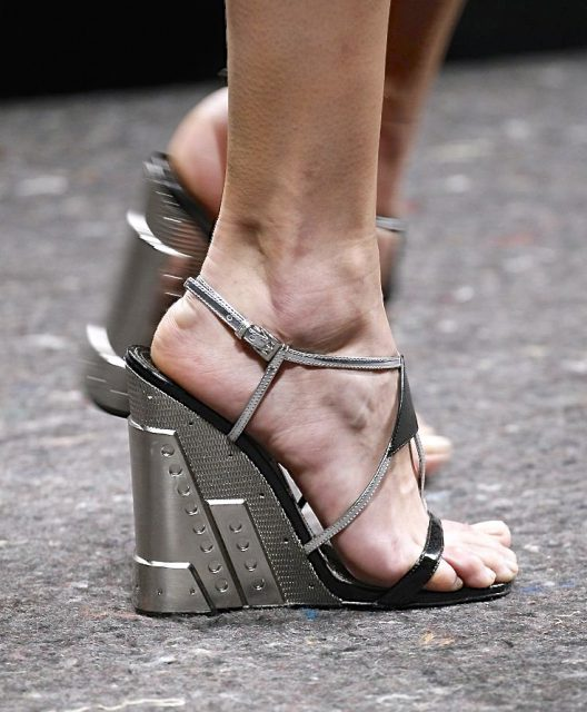 RARE Prada Wedges Shoes Runway