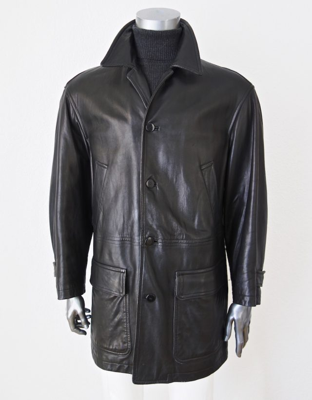 Leather Coat Donna Karan Gold Label