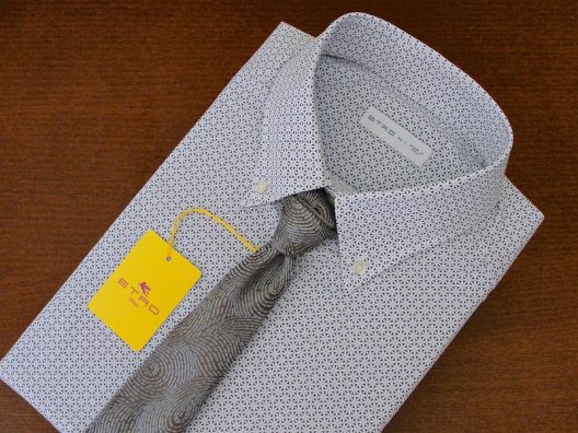 """New Collection Etro Cotton Slim-Fit Shirt Size Large - 41 - 16"""""""