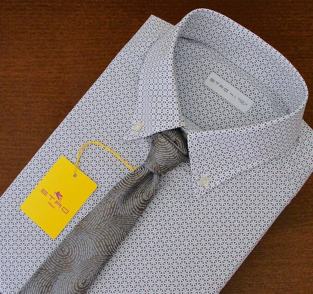 New Collection Etro Cotton Slim-Fit Shirt Size Large - 41 - 16""