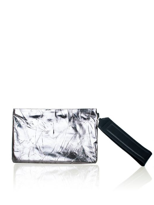 GERARD DAREL Silver Clutch Cocktail Evening Bag