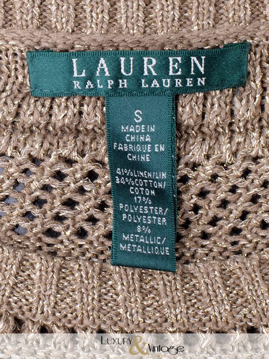Ralph Lauren Gold Thread Sweater
