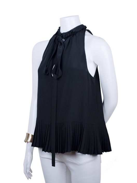 Roberto Cavalli Silk Pleated Top