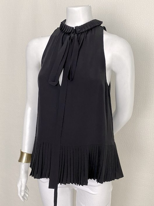Roberto Cavalli Top pleated silk
