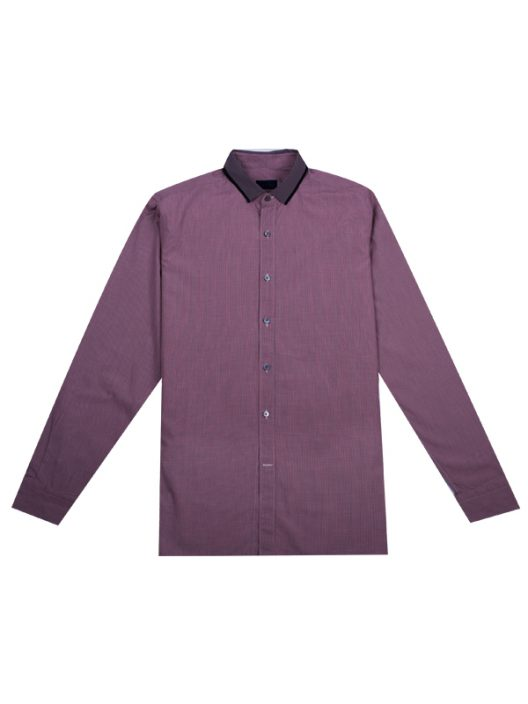 Lanvin Grosgrain-Collar Checked Slim Fit Shirt