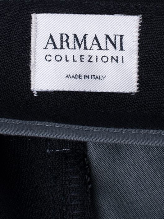 Armani Collezioni Black Dress Pants