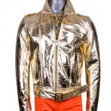 Versus Versace Gold Leather Jacket