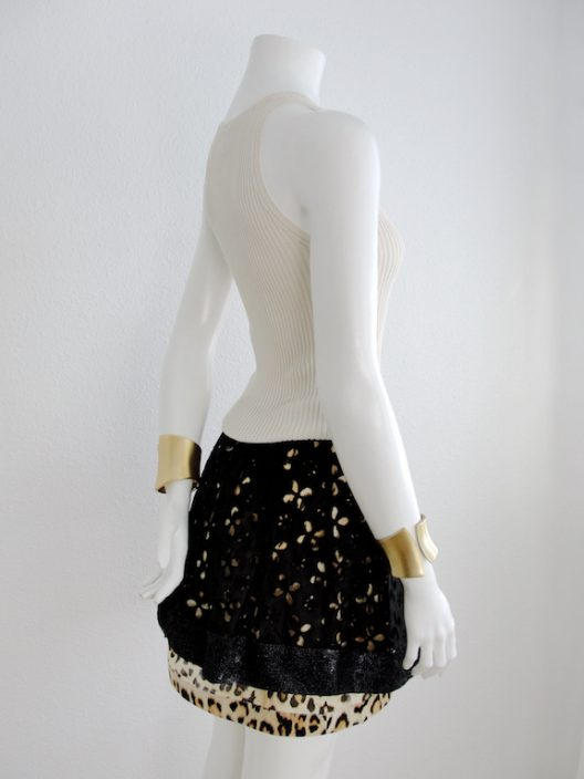 RARE Roberto Cavalli Animal Print with Sequins Mini Skirt
