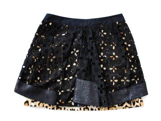 RARE Roberto Cavalli Animal Print with Sequins Mini Skirt