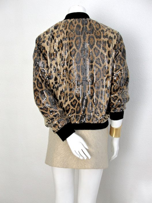 SET Azzedine Alaia wool skirt with sequin bomber