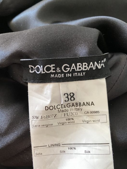 "Dolce & Gabbana Cocktail Little Black Dress ""Unique pieces"" collection"