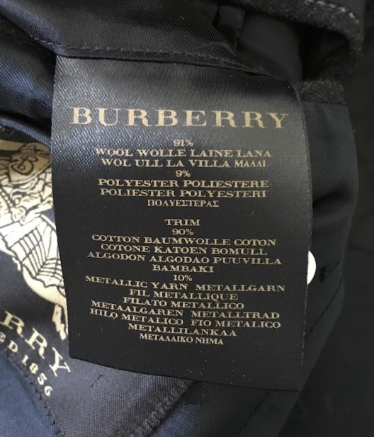 Burberry Prorsum Slim Jacket with velvet details