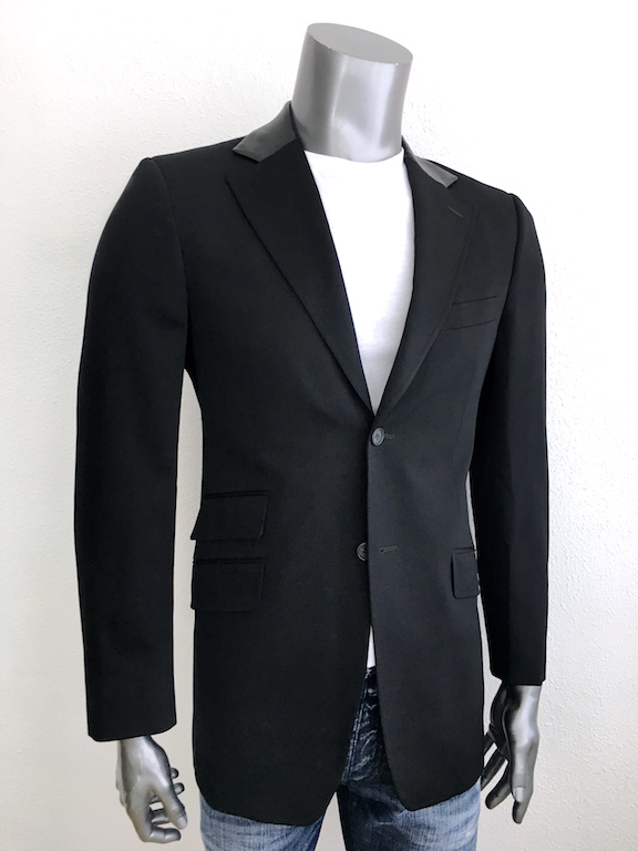 Versace wool jacket with leather details