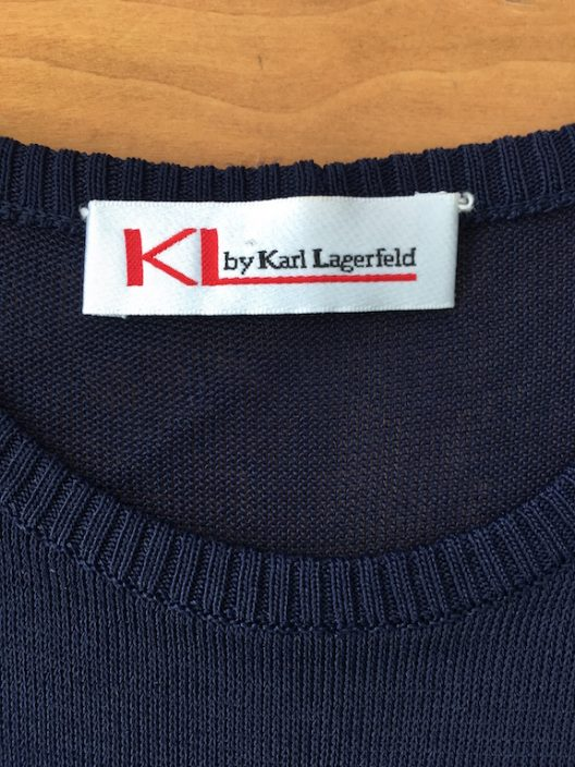 KL by Karl Lagerfeld Navy Top