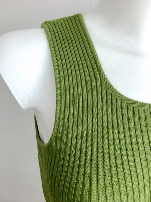 Etro Green Ribbed Top