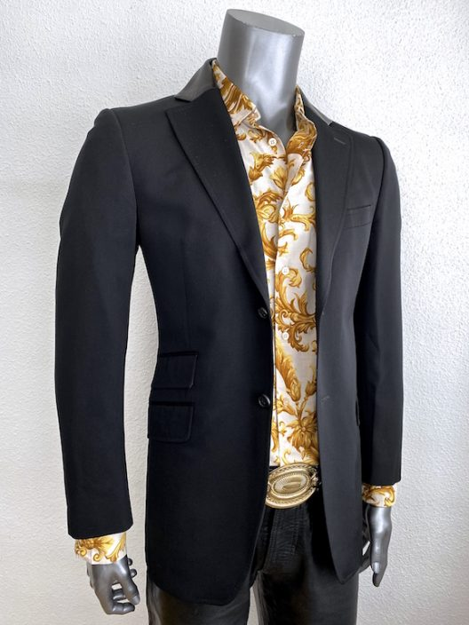 Versace slim jacket with leather details