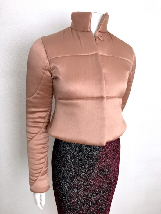 "Alvarno Short Pink Silk Jacket "" Unique Pieces Collection """