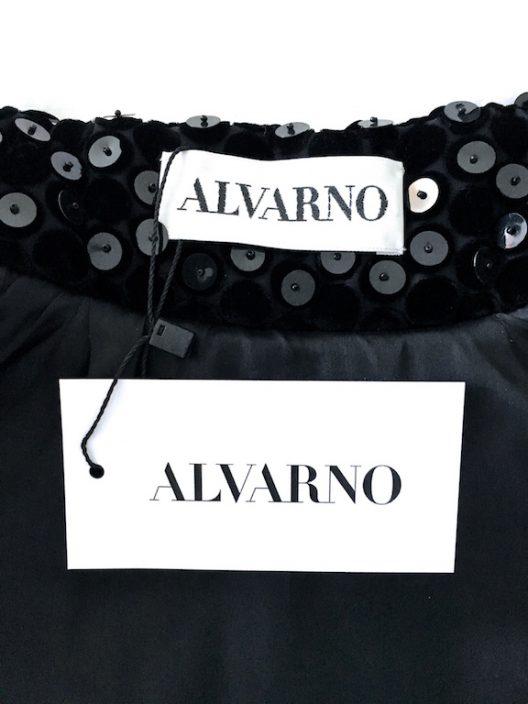 Alvarno Evening Black Short Velvet Jacket With Sequins