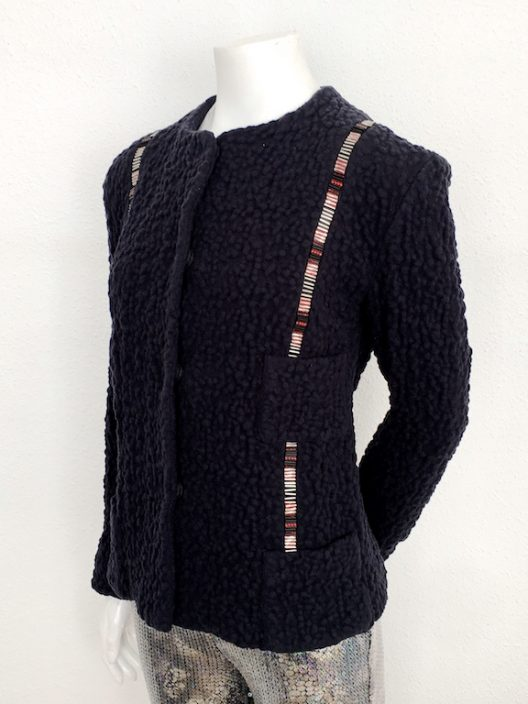 Alvarno Wool Jacket with Swarovski Crystals Details