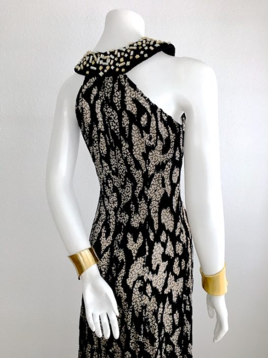 Alvarno Evening Long Dress Animal Print - Unique Pieces Collection