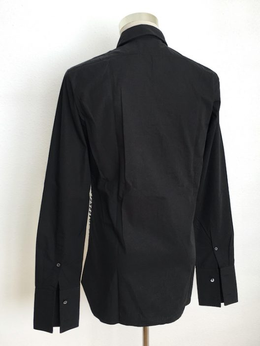 John Galliano Runway Black Cotton Shirt