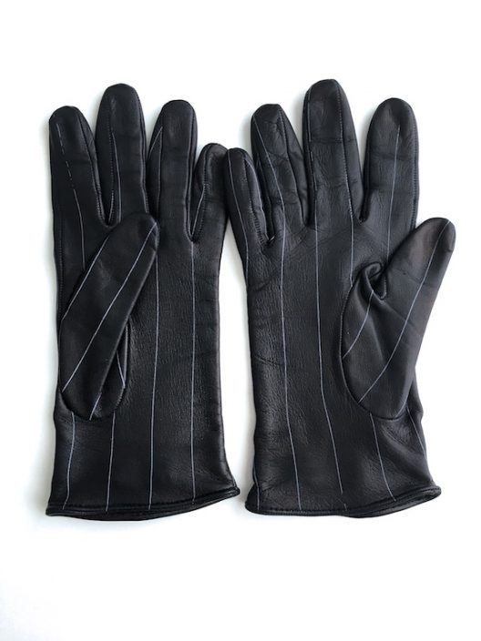 Gianni Versace Leather Gloves - Silver Jellyfish Details