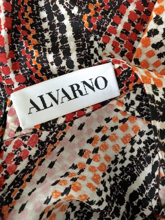 Alvarno Asymmetrical Silk Dress