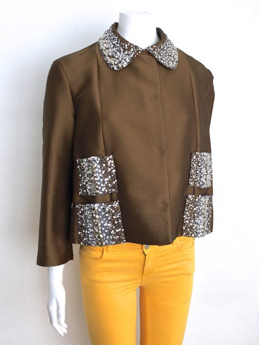 Alvarno Jacket With Sequins & Swarovski Crystals Details