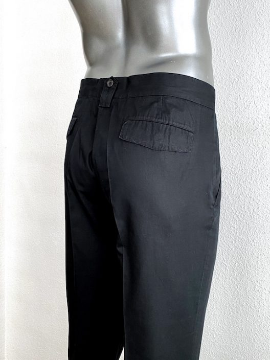 Dior Homme by Hedi Slimane Black Cotton Pants
