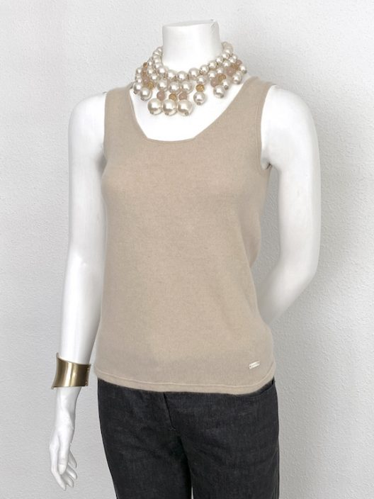 Chanel Knit Top 100% Cashmere