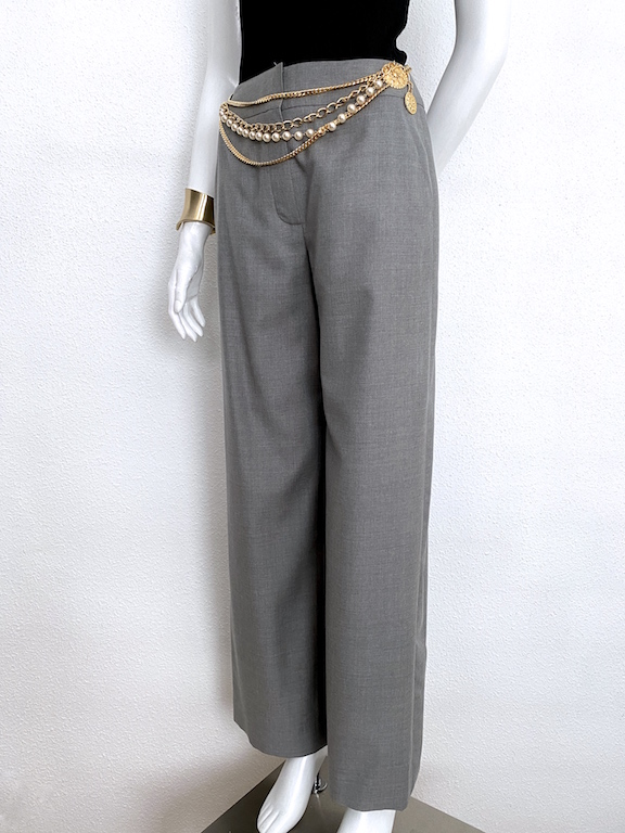 "Chanel Wide Leg Trousers ""Chanel"" logo"