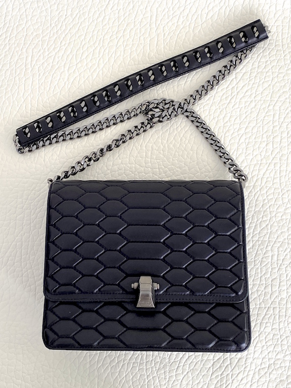 Roberto Cavalli Black Leather Shoulder Bag