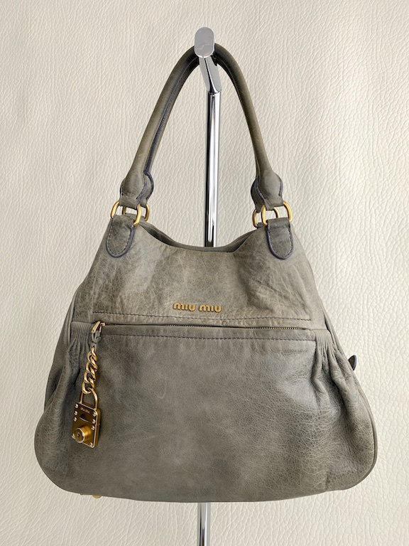 Miu Miu 2Way Leather LARGE Handbag-Tote Bag-Shoulder Bag