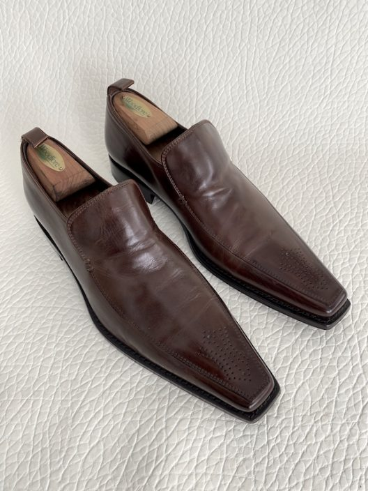 Dsquared2 Brown Leather Loafers