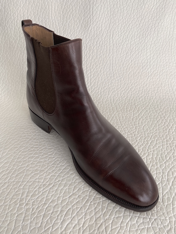 Tanino Crisci Italy Handmade Brown Leather Chelsea Mens Boots