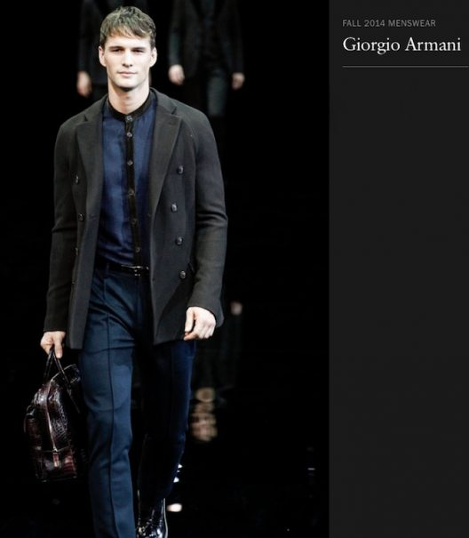Giorgio Armani Collarless Dress Shirt