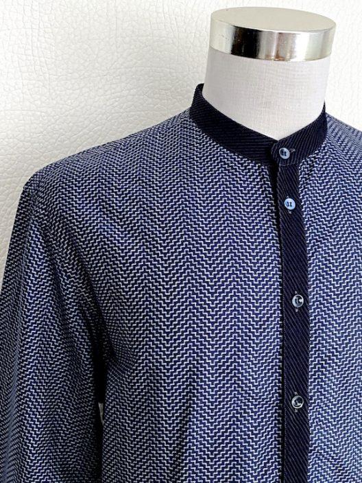 Giorgio Armani Collarless Dress Shirt