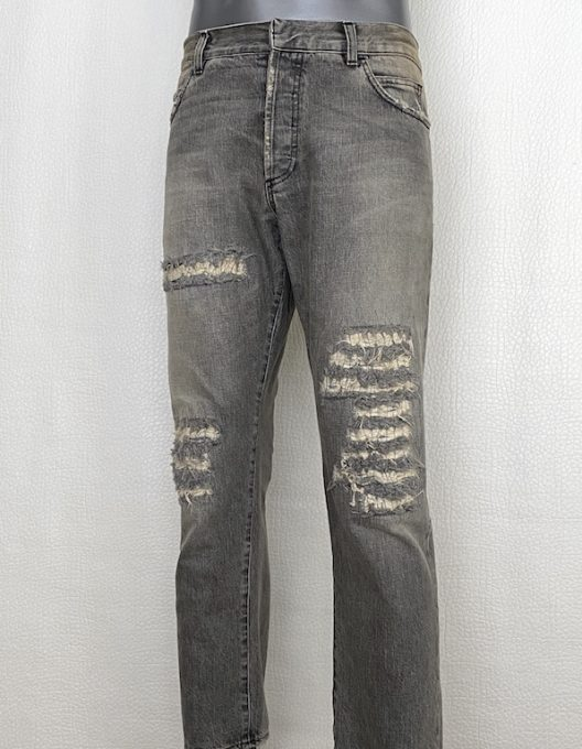 Balmain by Christophe Decarnin Distressed Denim Jeans