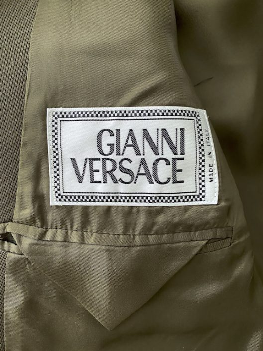 RARE Gianni Versace Jacket, Military Style-Medusa Buckle