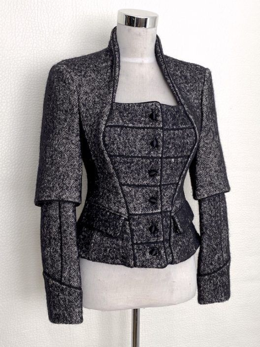 YSL Saint Laurent Runway Tweed Blazer-Jacket