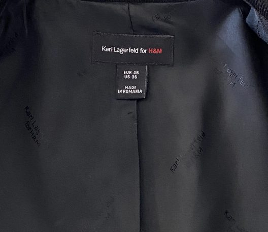 Collector's Piece Karl Lagerfeld for H&M Slim Fit Jacket