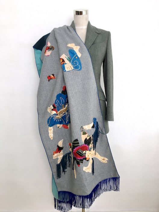 Stole - Foulard with patchwork details