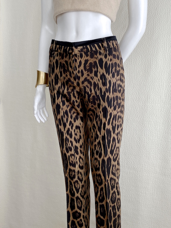 Roberto Cavalli Animal Print Dress Pants