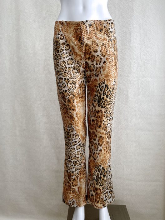 Escada Animal Print Sequin Pants