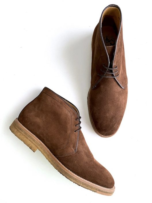 Bow-Tie Suede Lace-up Boots