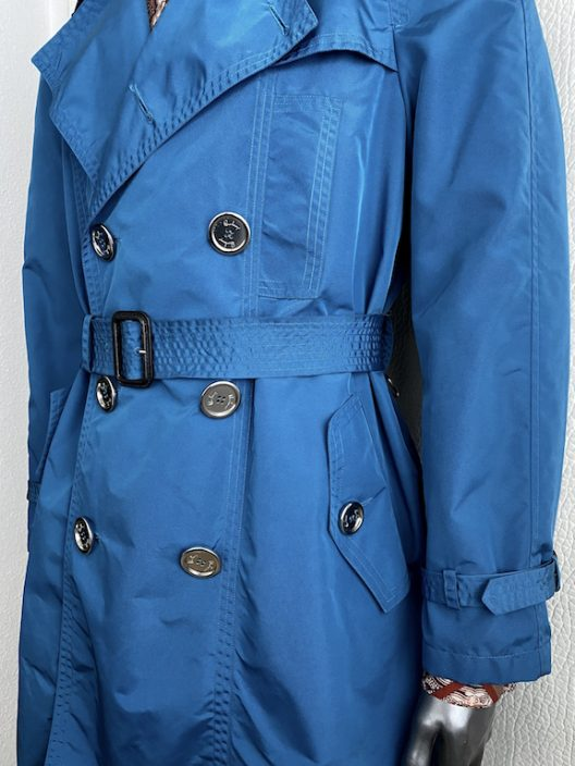 Burberry Prorsum Blue Trench Coat