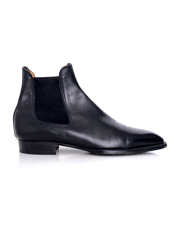 J M Weston Men's Chelsea Black Leather Boots