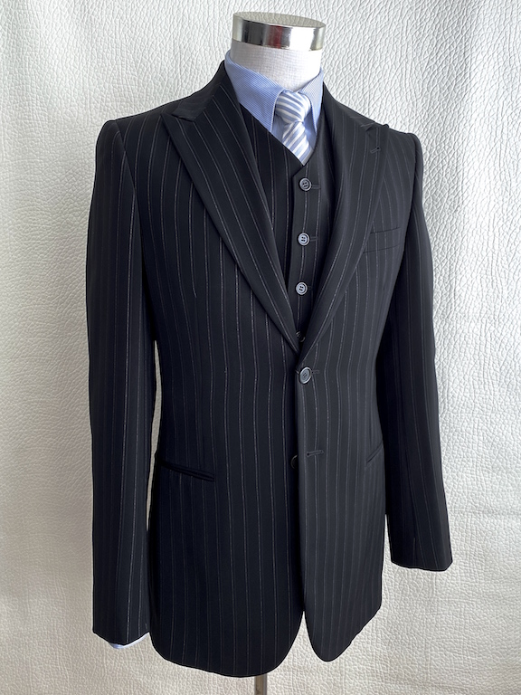 Giorgio Armani Slim Black Striped Suit - 3 pieces