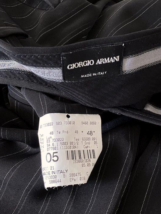 Giorgio Armani Slim Black Striped Suit - 3 pieces