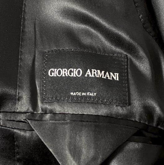 Giorgio Armani Slim Black Tuxedo One Button